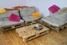 Unsere Arbeiten / Möbel und Wohnaccessoires in Handarbeit gefertigt. Aus Beton, Holz und Metall.