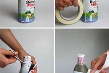 bottiglie con cemento