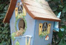 bird houses painted