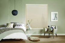 Visage Blinds by Louvolite / Bring a touch of style to your home with Visage by Louvolite.  Visage is made up of two layers of soft fabric connected by horizontal sheer vanes that gently filter sunlight whilst maintaining different levels of privacy and UV protection as the blind is raised or lowered.