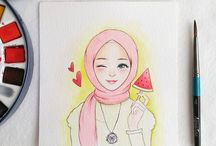 watercolor | muslim