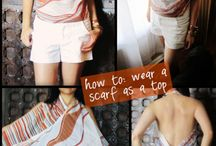 Scarfs/ DIY tops