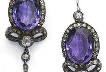 Victorian amethyst jewellry