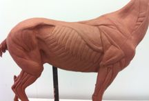 horse sculpture in polyclay