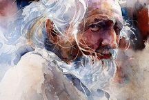 Akvarely - portréty