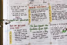 Bible Journaling and Study / Ideas for Bible journaling, prayer time, scripture studying, etc.  / by Michelle Paige