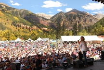 Festivals / Telluride's little oasis, boxed-in on three sides by 12,000 - 13,000 foot peaks, plays host to over twenty unique festivals each year ranging from popular live concerts to absolutely nothing at all. Welcome to Festival Capital, USA. Welcome to Telluride, Colorado.