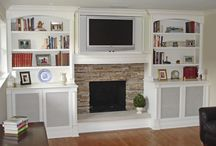 Basement built ins  / by Bridget Malone