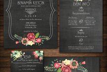 Düğün Davetiyesi / Düğün, etkinlik, açılış davetiyeleri