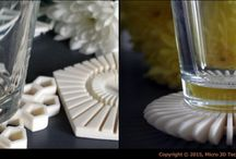 Product design - 3D Printed Lifestyle / Product design - 3d printed home accessories: coasters, cookie cutters