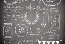 黒板アート参考画像
