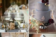 Grey or  Silver Wedding Colour Theme / Charcoal Grey, Dove Grey, Steel Grey, Shiny Silver, Pewter,  Slate, Glitter Accents