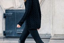 Total black / Casual outfits in black