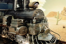 Trains / On the tracks or off(wrecks) / by Joe Saffa