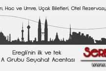 Ereğli Serbey Turizm / Ereğli'nin ilk ve tek A grubu yetkili seyahat acentası, Yurtiçi ve Yurtdışı turlar ,Uçak Bileti, Hac ve Umre. Tel:(0332) 713 41 41 (Takip)