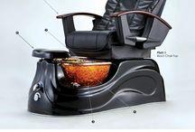 San Marino glass bowl pedicure spa / San Marino Pipeless Pedicure Spa with Glass Bowl features the famous Shiatsu Massage Chair Top.