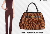 Nancy Cognac Zebra bag