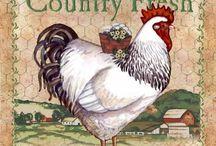 decoupage galinhas