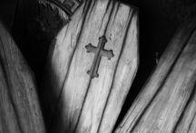 Coffins...
