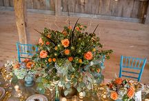 Allison April 2017 / Carriage house wedding, simple elegance golds and turquoise