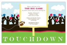 Super Bowl Party Invitations / #SuperBowl #Party #Invitations
