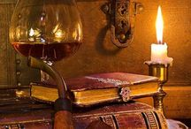 Book and cognac