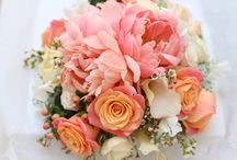 Colours (Coral wedding flowers) / Coral wedding flowers designed and created by www.bijouxfloral.co.uk