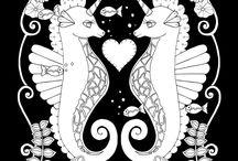 Magical ocean coloring books / Beautiful coloring book by Ebony Rainn all of her books have a cute whimsical style. The has free coloring pages on her website ebonyrainn.com    #coloring#coloringbook#coloringforadults#coloringforgrownupa#detailedcoloring#coloringcraze#ebonyrainn#colouringbook#johannabashford#beautifulcoloringbook#drawing#fineliner#artist#illustrator#ebonyrainn#fineliner#illustrationoftheday#illustration#sketch#drawing#artstagrams #artstagram#artistoninstagram
