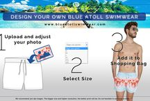 Design Your Own Blue Atoll swimwear for men! / Now you are the designer! Have you ever think about designing your own men´s swimwear? Blue Atoll swimwear presents our inspiration section. Come over to inspire yourself and create your own!