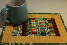 Quilt a mug rug