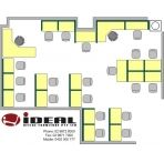 Office Floor Plans / IDEAL Office Furniture offer a free space planning service to ensure your space is maximised to accommodate the right ratio of working, storage and break out space.