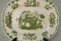 Green English china / These are evocative of country living