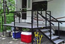 rv stairs and landing