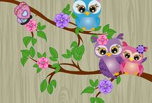 Cute Owls Art & Drawing