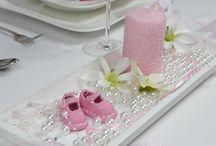 Streudeko zur Taufe / Tischdeko, Streudeko, Taufdeko und passenden Accessoires finden Sie bei uns! Die Babys, ob Junge oder Mädchen, können in BLAU oder ROSA feiern!