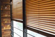 Industrial wooden blinds