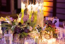 Assorted Centerpiece, tables, Candles.