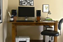 Reclaimed wood standing desk