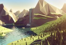 lanscapes lowpoly
