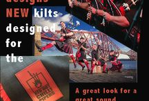 Red Hot Chilli Pipers / These are the kilts that we make for this great barrack band.