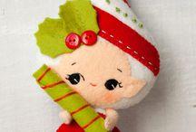 felt christmas ornaments ideas