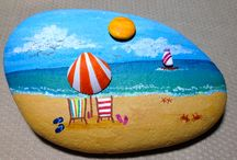 Rock painting / Rocks shells