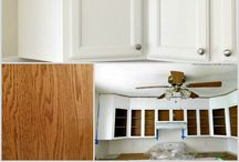 How to paint orange oak kitchen Cabinets
