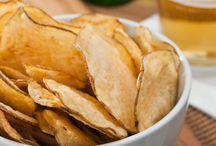 chips naturais de legumes