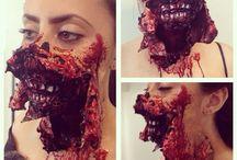 maquillaje efectos especiales.- Halloween..