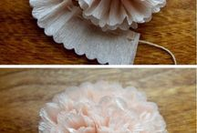 Paper/textile flowers