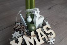 Winter & xmas decorations / made by pm