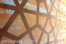 JH Studio Wall Finishes / Jeff Huckaby Studio's artisan surface treatments for interior walls.
