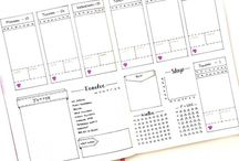 Planning & Bullet Journal / Ideas for bullet journal, printable planner pages.