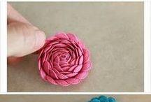 Satin lace rose